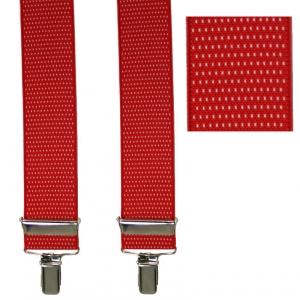 roter Hosenträger 4713 mit kleinen Punkten