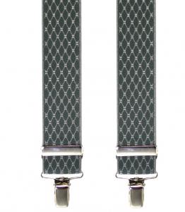 grauer Hosenträger 4761 mit elegantem Webmuster-