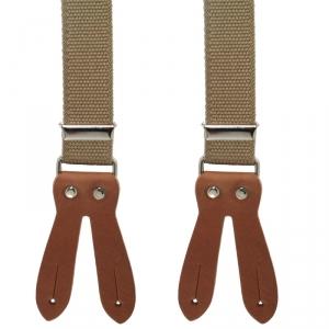 besonders robuster Hosenträger 4656 mit hochwertigem Leder