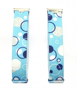 Ärmelhalter in bequemer Breite von 2,5 cm dunkelblau mit dezentem Muster